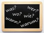 Wer Wo Was Wann Warum Wie - die 6 W-Fragen